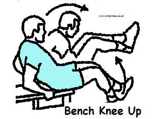 Bench knee up