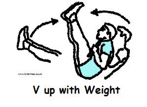 V up with weight
